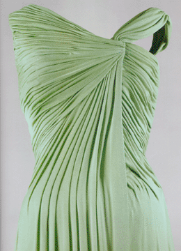 Celadon silk dress by Oleg Cassini for Jacqueline Kennedy